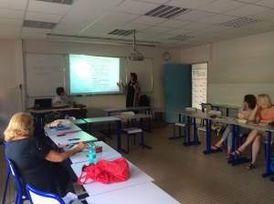 Module sur la classe inversée aux Universités du Monde (Nice, juillet 2016 - Photo: P. Liria)